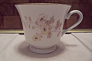 Japanese China Yellow Flower Decorated Footed Teacup