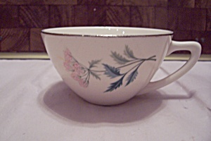 Porcelain Pink Flower Decorated Teacup