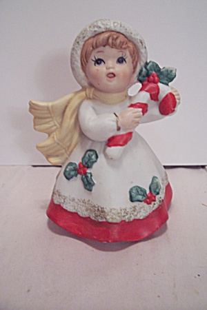 Porcelain Christmas Dressed Little Girl Figurine
