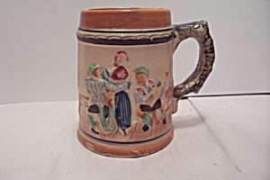 Japanese German Pub Scene Porcelain Beer Mug