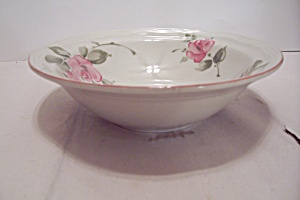 Gibson Pink Rose Pattern China Coupe Soup Bowl