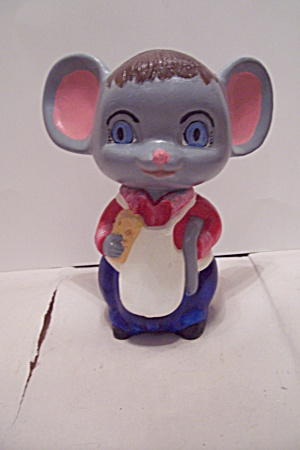 Hand Painted Ceramic Art Mouse Figurine