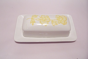Akfred Meakin Floral Decorated China Butter Dish
