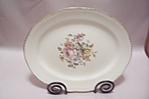 Cunningham & Pickett Rose Bouquet Pattern Oval Bowl