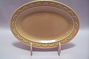 Small Tan China Oval Platter