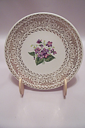 Flower & Gilt Decorated China Saucer