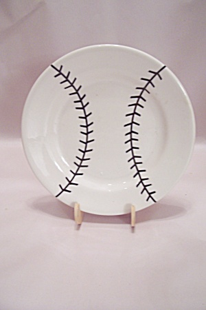 Sterling Baseball Pattern China Salad Plate