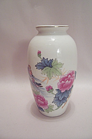 Small Flower Decorated Porcelain Vase