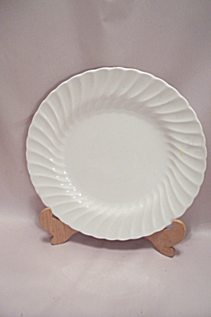 Sheffield Bone White Swirl Pattern China Dinner Plate