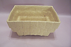Mccoy Yellow Rectangular Footed Pottery Planter