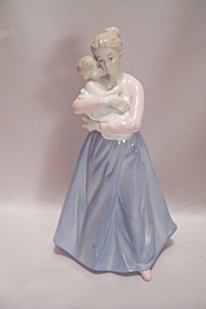 Fine Porcelain Woman & Child Figurine