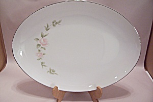 Style House Tudor Rose Pattern China Large Platter