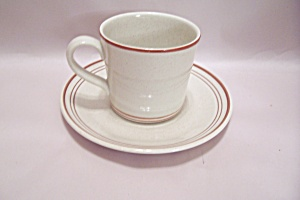 Royal Doulton Nutmeg Pattern China Cup & Saucer