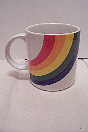 Porcelain Rainbow Decorated Mug