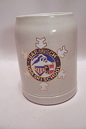 West German Pottery Garmisch Usa Ski School Beer Mug