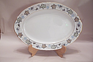 Style House Bordeaux Pattern Fine China Oval Platter