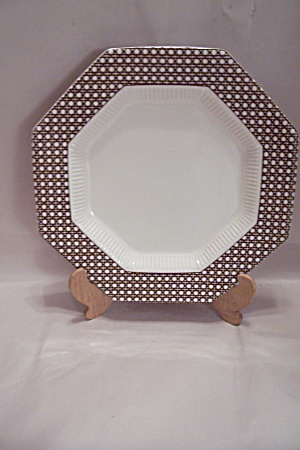 Nikko Classic Collection Brown Cane Border Dinner Plate