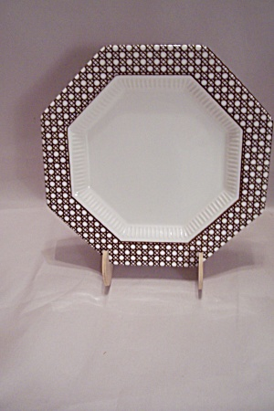 Nikko Classic Collection Brown Cane Border Salad Plate