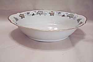 Style House Bordeaux Pattern Fine China Oval Bowl