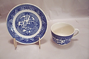 Royal China Willow Ware Pattern China Cup & Saucer