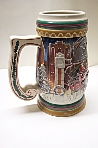 Budweiser Beer Stein - Home For The Holidays (1997)