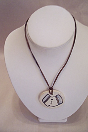 Handcrafted Ceramic Drop Necklace
