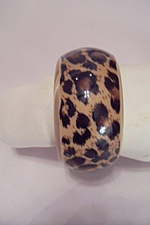 Large Plastic Spotted Leopard Pattern Bangle Bracelet