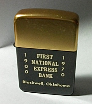 Nos Vintage 1970 Park Adv. First National Bank Lighter