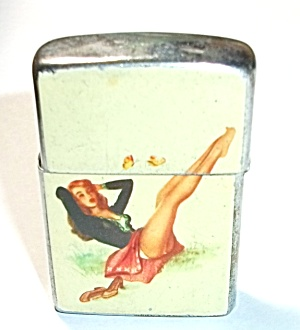1960`s Amico Japan Pinup Pocket Lighter
