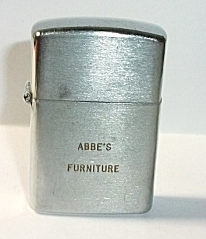 Vintage 1960`s Tac Adv. Abbe`s Furniture Mini Lighter