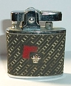 Vintage Atlantis Cloth Crown Pocket Lighter