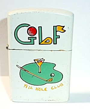 1980`s Korea Golf 19th Hole Club Pocket Lighter