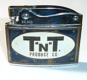 Vintage 1950`s Balboa Adv. T N T Produce Co. Lighter