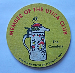Utica Club Beer Coaster The Countess