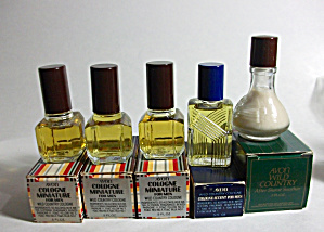 N.o.s. 5 Vintage Avon (4) Colognes - (1) After Shave