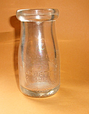 Embossed Jewett`s Dairy Watertown New York One Cill Liq