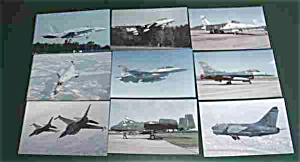 9 Fighter Jet Postcards Postcard