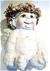 Dreamsicles Sitting Christmas Angel Ceramic Figurine