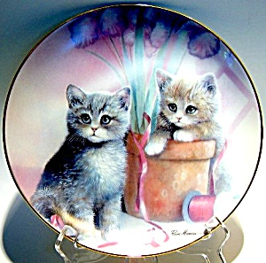 Cat Plate 'playful Companions'