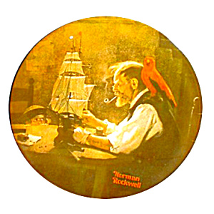 Norman Rockwell Plate 'the Ship Builder'