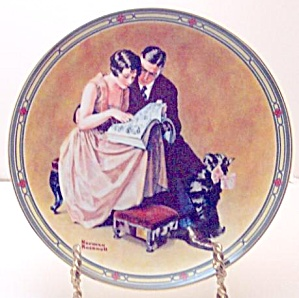 Norman Rockwell Plate 'a Couple's Commitment'