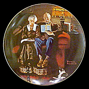 Norman Rockwell Plate 'evening Ease'