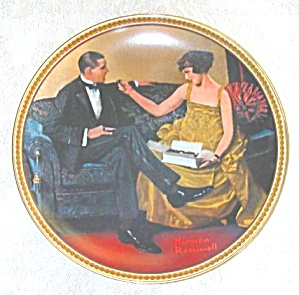 Norman Rockwell Plate 'flirting In The Parlor'