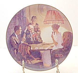 Norman Rockwell Plate 'this Is The Room That Light Made