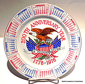 200th Anniversary Year Collector Plate 1776-1976