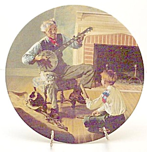 Norman Rockwell Plate 'banjo Player' 1989