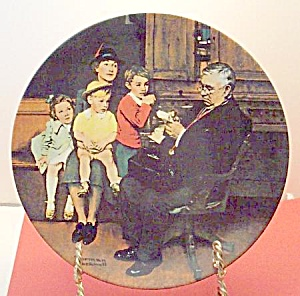 Norman Rockwell Plate 'the Family Doctor' 1992