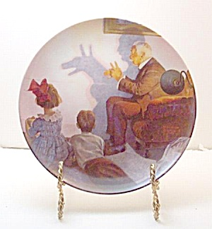 Norman Rockwell Plate 'the Shadow Artist' 1987