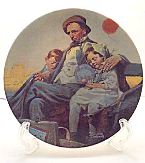 Norman Rockwell Plate 'home From The County Fair' 2002
