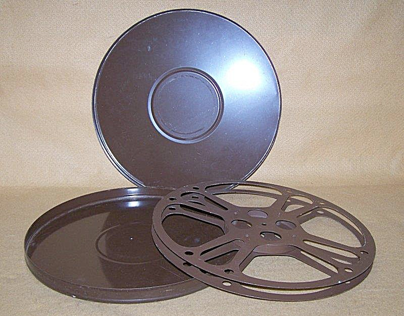 Large 13.75 Inch 16mm Metal Movie Film Reel W/can